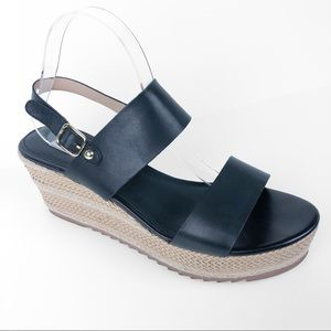Steve Madden Waria Wedge Platform Sandal Black